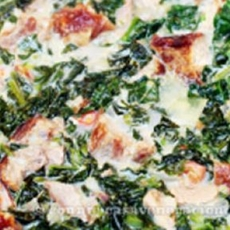 Lechon Kawali and Chinese Broccoli in Coconut Milk