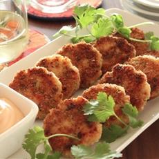 Basil Shrimp Cakes