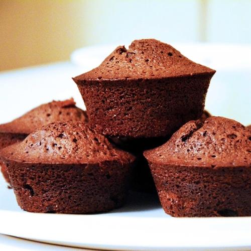 Chocolate-rum-raisins Muffins