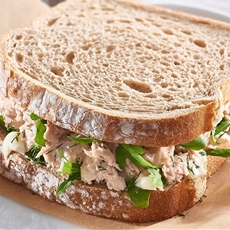 Spring Water Tuna on Rye with Fresh Dill, Mayo and Rocket –