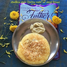 The Indian traditional 'stout' bread –dibba rotti