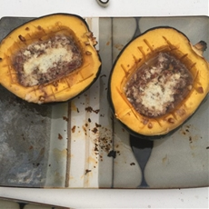 Acorn Squash with Brown Sugar and Pecans