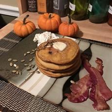 Pumpkin Bacon Pancakes
