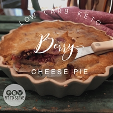 Low Carb Keto Berry Cheese Pie · Fittoserve Group