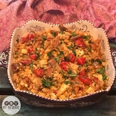Low Carb Mexican Cauliflower Rice And Chicken · Fittoserve Grou