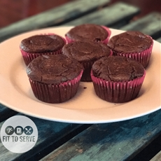 Low Carb Chocolate Sour Cream Cupcakes · Fittoserve Group