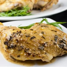 Roasted Chicken with Dijon Cream Sauce