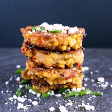Corn, Zucchini and Red Pepper Cakes by Karyls Kulinary Krusade