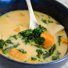 Butternut Squash Chicken Curry Soup; The Radiant Chef