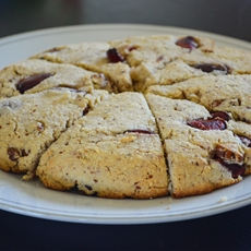 Paleo Cherry Pecan Scones; The Radiant Chef