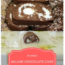 No Bake Salami Cake with Chocolate and Coconut