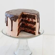 Strawberry + Chocolate Cake