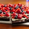 Gluten Free Brownie n Berries Dessert Pizza