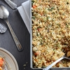 White Bean Casserole with Crunchy Onion Topping