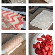 Chevron Cake Roll