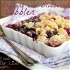 Rhubarb and Blueberry Cobbler