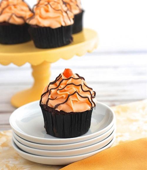 Orange Cream & Chocolate Cupcakes