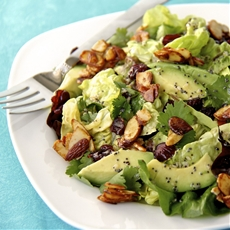 Cranberry-Avocado Salad with Candied Spiced Almonds