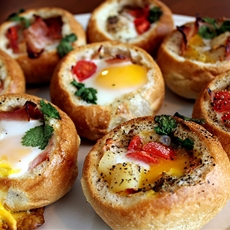 Customizable Bread Bowl Breakfast