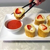 Strawberry Shortcake Sushi + Strawberry Coulis