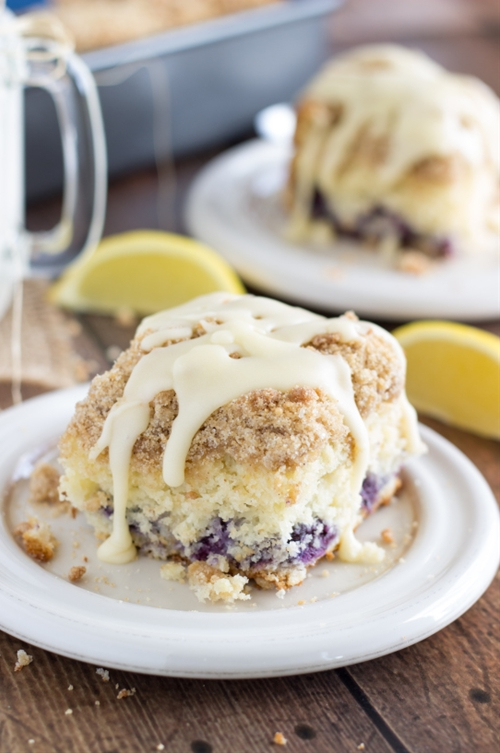 Blueberry Cinnamon Roll Cake