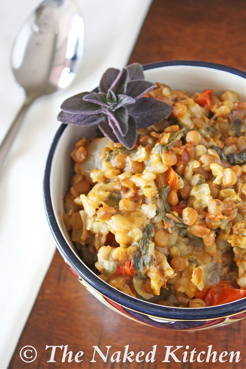 Vegan Crockpot Lentils and Rice