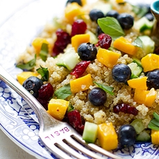 Blueberry Mango Quinoa Salad with Lemon Basil Dressing Recipe