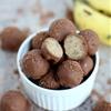 Chocolate-Dipped Banana Bread Truffles
