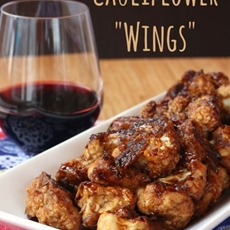 "Balsamic Glazed Cauliflower ""Wings"""