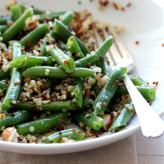 Green Beans and Tricolor Quinoa