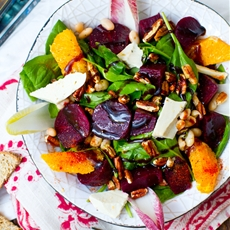 "Roasted Beet Salad. Aka, ""The Bella Special"" HeartBeet Salad"""