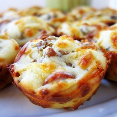 Sausage & Pepperoni Pizza Puffs