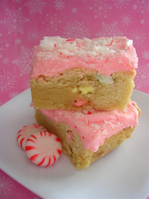 Peppermint Sugar Cookie Bars