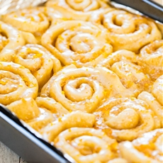 The Best Glazed Orange Sweet Rolls