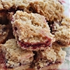 Homemade breakfast jam bars