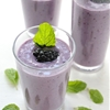 Blackberry, banana and mint smoothie