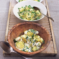 Potato salad with garlic mayonnaise & cress