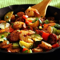 20-Minute Shrimp & Sausage Skillet Paleo Meal Recipe