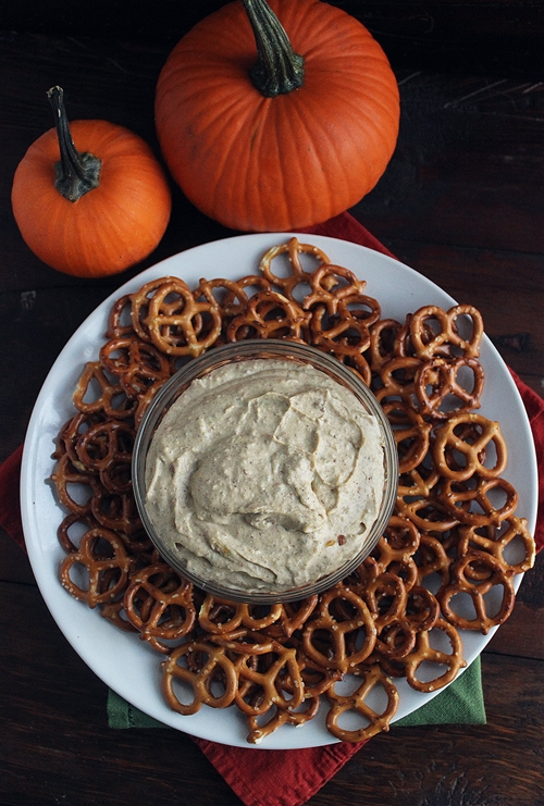 Sweet & Savory Pumpkin Cream Cheese Dip