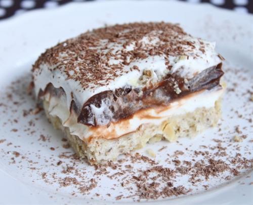 Rich, creamy and chocolaty dessert