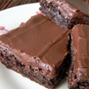 Frosted Zuchinni Brownies