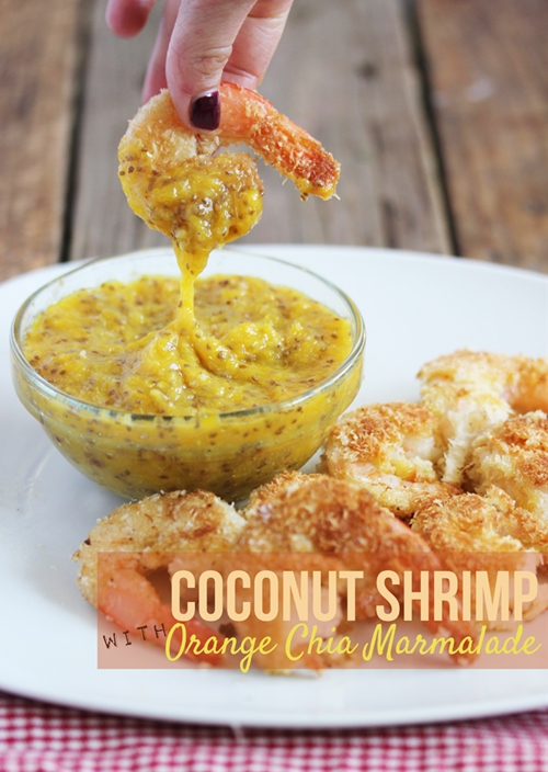 Coconut Shrimp with Orange Chia Marmalade