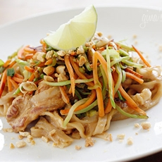 Asian Peanut Noodles with Chicken – Lightened Up