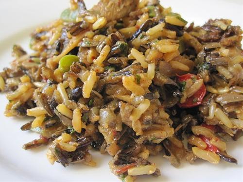 Wild Rice and Mushroom Dressing