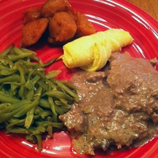 Crockpot Cube Steak and Gravy