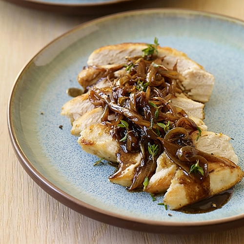 Weight Watchers Chicken with Balsamic Vinegar, Sweet Onions and Thyme
