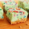 Cake Batter Cheesecake Bars