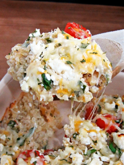 Cheesy Greek-Style Baked Quinoa