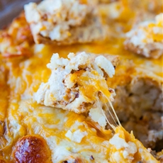 Loaded Baked Tater Tot Dip (vegan, gluten-free)