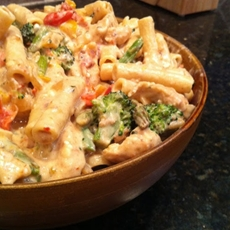 Spicy chicken and brocculi pasta